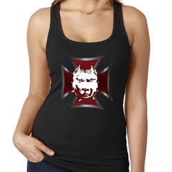 DDMM White/Red Celtic Cross Ladies' Tank Thumbnail